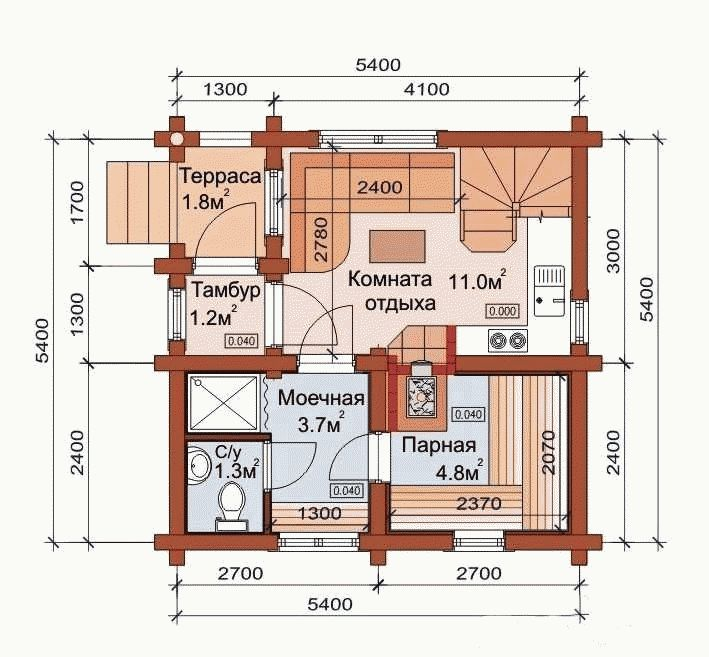 Проекты бань с комнатой отдыха,кухней,туалетом,зоной барбекю мастер класс барбекю